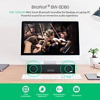 Blitzwolf BW-SDB0 10W 1200mAH Mini Smart Bluetooth Soundbar for Desktop or Laptop PC
