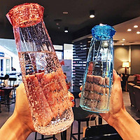 1 Piece Creative Diamond Glass Water Cup 500ml Capacity Glass Cup Random Color