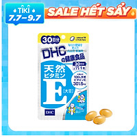Viên uống DHC Natural Vitamin E - Chống lão hóa, giảm thâm, giảm mụn, giảm viêm da, trẻ hóa làn da