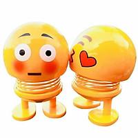 Combo 5 con thú nhún emoji trang trí