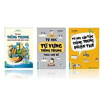 Combo 3 Cuốn Sách Tự Học Nhanh Tiếng Trung ( Từ Vựng Tiếng Trung Theo Chủ Đề + Trung Phồn Thể + Trung Bắt Đầu ) tặng bookmark kim loại