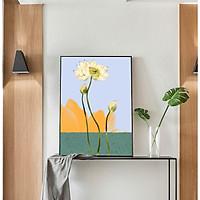 Tranh Canvas Decor Hoa Sen cao cấp. (Bộ 1 bức), Khung hợp nhôm chống ẩm, bền, đẹp, nhiều kích thước. Phù hợp nhiều không gian sang trọng.