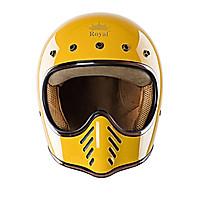 Mũ Bảo Hiểm Fullface H1 Royal - Vàng bóng