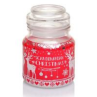 Hũ nến thơm tinh dầu Bartek Scandinavian Christmas 130g PTT06657 - gừng, táo, quế  (giao mẫu ngẫu nhiên)