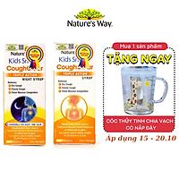 Combo 2 Siro Uống Nature's Way Kids Smart Cough Action Syrup Ngày Và Đêm Giảm Ho, Long Đờm Hiệu Quả 120ml