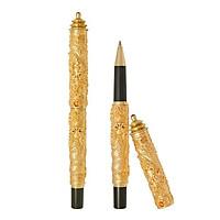 Bút rồng mạ vàng 24k song long nắp tòa tháp - ANCARAT