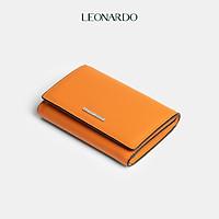 Ví nữ Lucia gập ba thông minh da mềm thương hiệu Leonardo