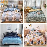 Bộ Set Chăn Ga Gối Cotton KOREA ADU79 Bedding Đáng Yêu Hàn Quốc Miễn Phí Bo Chun Drap Ga Giường Mềm Mại Mịn Màng CHƯA GỒM CHĂN