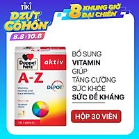 Viên uống Vitamin tổng hợp tăng cường sức khỏe đề kháng Doppelherz Aktiv A-Z Depot (Hộp 30 viên)