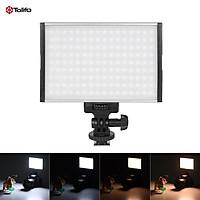 Tolifo PT-15B Pro High Power Ultra-thin Dimmable Bi-color Temperature 3200K - 5600K 144pcs LED Light Fill-in On-camera