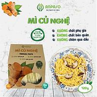 Mì Củ Nghệ Nguyên Chất Anpaso Eat Clean, Thanh Mát, Ăn Chay, Bổ Sung Chât Xơ, tốt cho tiêu hóa 120g