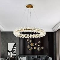 Đèn thả pha lê cao cấp thiết kế vòng tròn sang trọng trang trí phòng khách, nhà hàng, quán cafe THCN 138-21