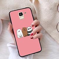 Ốp lưng dành cho Samsung Galaxy J6 2018 viền dẻo TPU bộ sưu tập Chúng ta là gấu - Hàng chính hãng