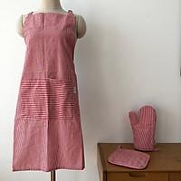 Bộ tạp dề kèm 1 găng tay và 1 lót cách nhiệt Hanil Capet, chất liệu cotton -polyester