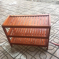 Kệ Giày Dép 3 Tầng Dài 62cm Gỗ Cao Su
