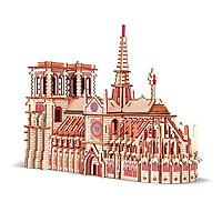 Đồ chơi lắp ráp 3D gỗ- mô hình Nhà Thờ Đức Bà- cắt Lazer
