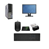 Bộ máy tính để bàn DELL Optiplex (Chip core i7 2600, Ram 8gb, SSD 120GB+ HDD 500gb ) Và Màn Hình DELL 22 inch (Dell E2216)- Tặng USB wifi + Bộ Bàn phím chuột - bàn di chuột - Hàng Nhập Khẩu