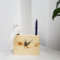Đồng hồ gỗ để bàn - TCII - Tiny Clock 2 lỗ cắm bút