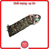 Túi Ngủ Du Lịch Thái Lan Chèn Bông Kiểu Xanh Rằn Ri 3 Lớp Cao Cấp