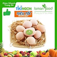 [Chỉ giao HCM] - Trứng Gà Ta Thả Vườn - Laman Food-Tươi, Ngon - Giao Hàng Siêu Tốc - 10 Trứng