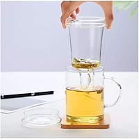 Ly lọc trà thuỷ tinh chịu nhiệt kèm nắp