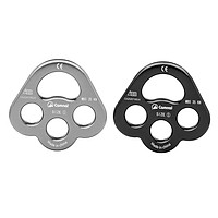 """2PCS 35KN 4-hole Paw Rigging Plate for 0.8"""" Aerial & Tree Rock Climbing Rope"""