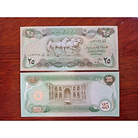Tiền hình con ngựa của Iraq 25 Dinar , sưu tầm tiền xưa - tặng kèm bao lì xì