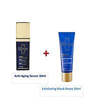 COMBO DERMEDEN Anti-Aging Serum 30ml + Exfoliating Mask Detox 50ml