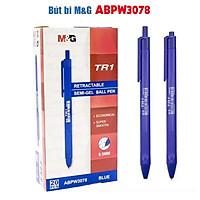 Bút bi bấm Semi Gel M&G ABPW3078 màu Xanh dương/ Đen/ Đỏ 0.5 mm - TR1