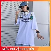 Áo thun tay lỡ form rộng Oversize, áo phông tay lỡ form rộng Unisex, áo thun A1017