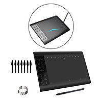 10 x 6 Inch Graphic Drawing Tablet, Graphic Tablet with Battery-free Pen, Drawing Pad Compatible with Mac, for Windows, Home-Office