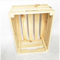 Thùng gỗ Pallet đựng đồ trang trí homestay- Kệ decor đa năng KT 30x20x16