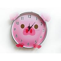 Đồng hồ trang trí treo tường độc đáo LỢN hồng, kim trôi, không gây tiếng ồn, sản xuất thủ công