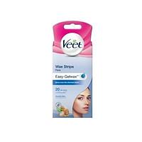 20 Miếng tẩy lông mặt ria mép VEET Wax Strips Face 20 Miếng