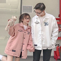 Áo Khoác Dù Chống Dành Cho Nam Nữ Có 2 Màu Jacket Form Rộng In Hình Angle Land Đôi Unisex