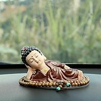 Tượng Phật nằm niết bàn - Phật Ông áo nâu (Kèm chuỗi)