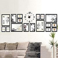 Bộ 17 Khung ảnh Treo tường phòng khách, văn phòng KA1702 Miễn phí phụ kiện