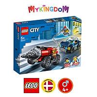 Đồ chơi lắp ráp mô hình LEGO CITY Truy đuổi xe máy khoan cướp ngân hàng 60273