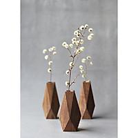 1 bình hoa lọ gỗ trang tri độc đáo