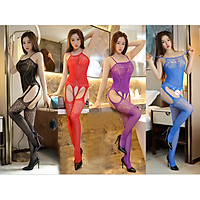 Đồ Ngủ 2 Dây Lưới Xuyên Thấu Khoét Đáy Nhiều Màu Sexy Bodystocking Erotic Lingerie Nightwear Brave Man BCS21 22 8048