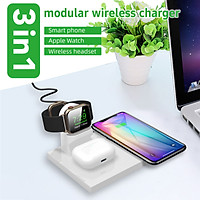10W 3in1 QI Wireless Charger Dock for Apple Watch for iPhone for Airpod 2 Pro