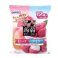 Thạch trái cây mix đào vải Orihiro 240g