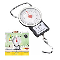 【200g- 22kg 】2 En 1 50LBS Portable Scale Luggage Travel Scale with 1 Meter Flexible Rule Extensive Usage in Fishing/kitchen/Travel/Post/Laundry