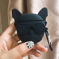 Bao Case Silicon Cho Tai Nghe Apple AirPods 1 / AirPods 2 -  Hình Black Dog
