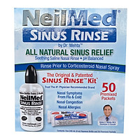 Đồ xịt rửa mũi NeilMed SINUS RINSE (50 gói muối)