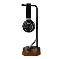 Universal Wooden & Iron Headphone Stand Hanger Holder, Sturdy Desk Headset Mount Rack for ,  Gaming Headphones Display