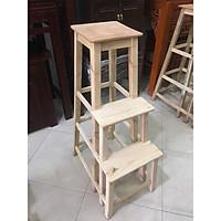 Ghế thắp hương (thắp nhang) - gỗ mộc - 3 bậc