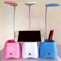 Đèn bàn học sinh có ngăn đựng bút gấp gọn, uốn cong, xoay 360 độ tiện lợi (ĐÈN LED) - Giao màu ngẫu nhiên