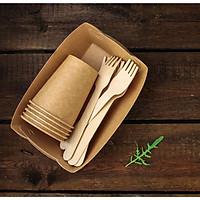 100 cái Nĩa Gỗ 16cm, dùng một lần, từ gỗ tự nhiên, an toàn và thân thiện môi trường