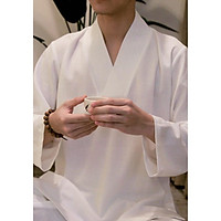 Quần áo Thiền cho phật tử, người tập yoga theo phong cách trang phục cổ trang Zambala - Nam cài chéo